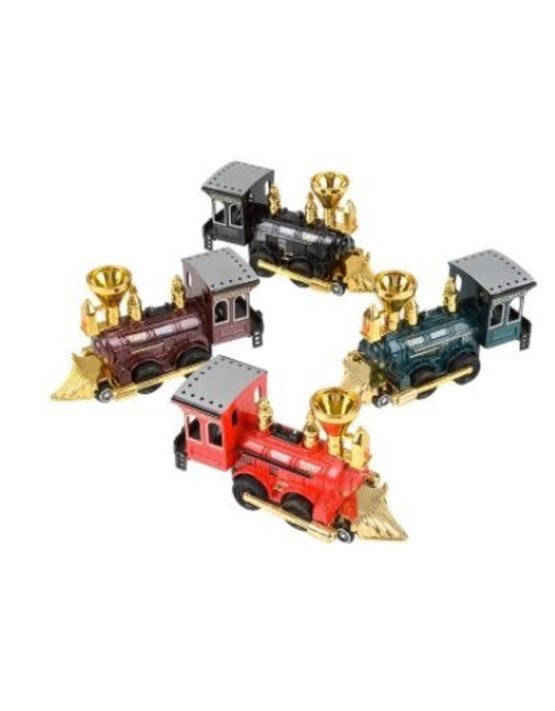 Die-Cast Pull Back Power Steam Locomotive (asst colors)