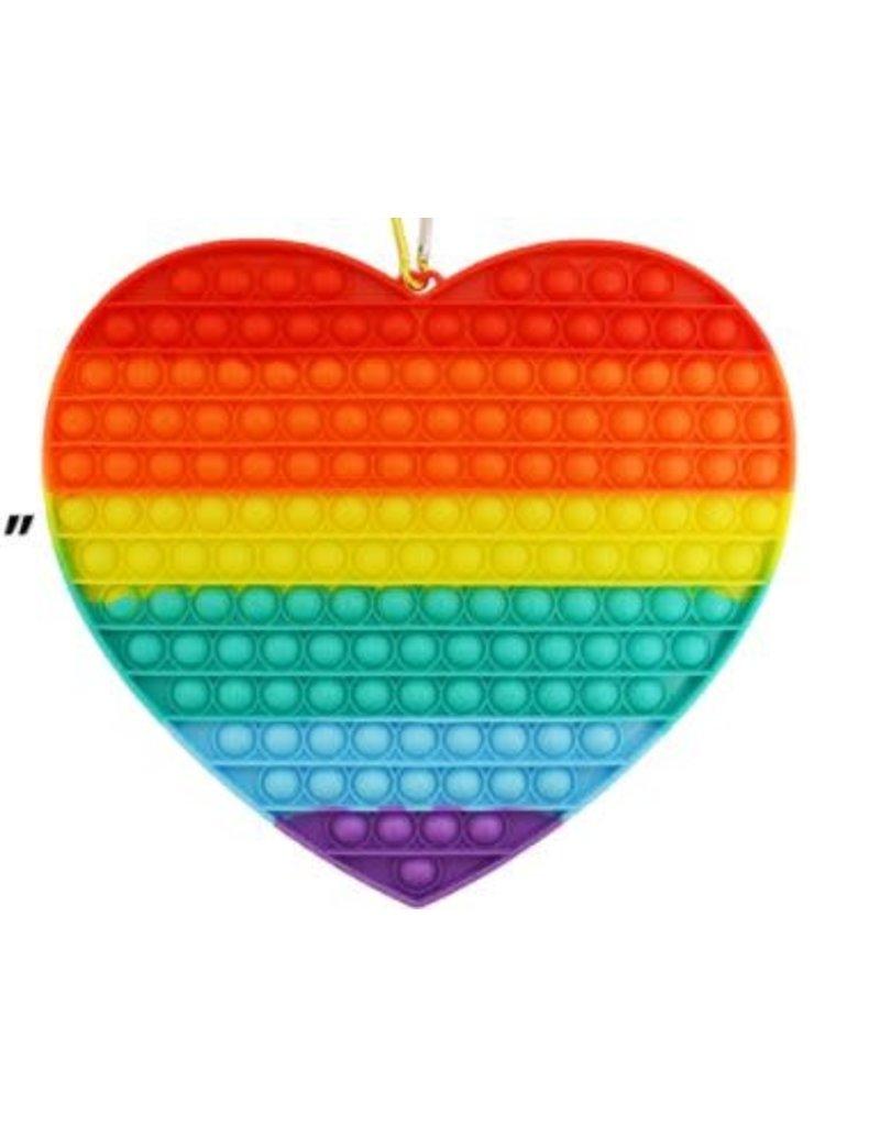Jumbo Rainbow Heart Pop Fidget