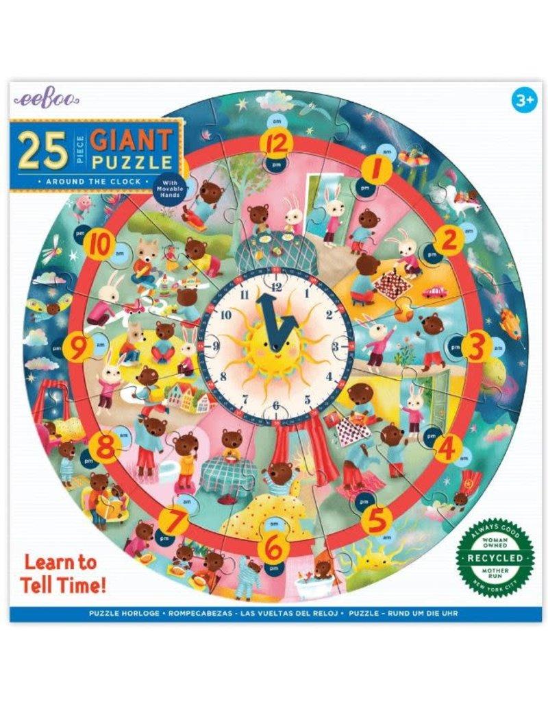 Eeboo Giant Clock Puzzle - 25 pc