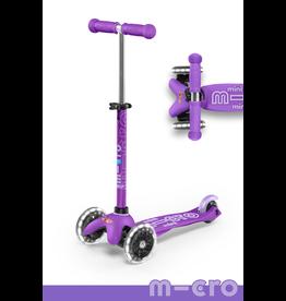 Micro Kickboard Micro Mini Deluxe LED Purple