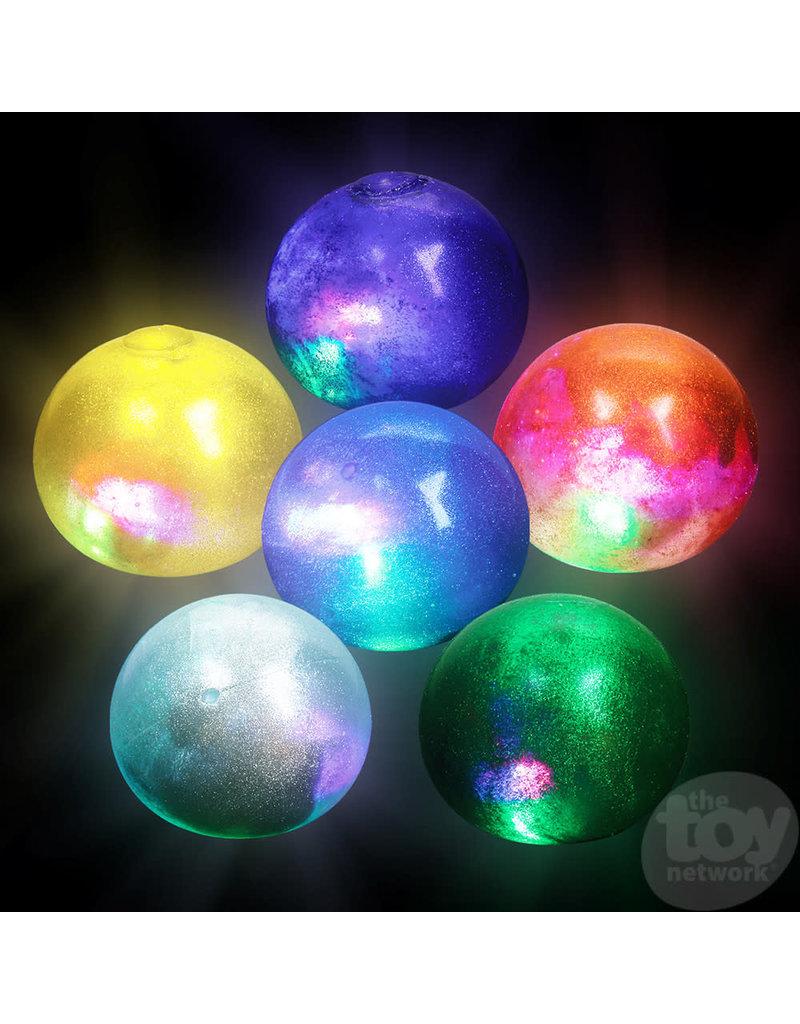"""2.5"""" Light-Up Galaxy Stress Ball (assort colors - 1pc)"""
