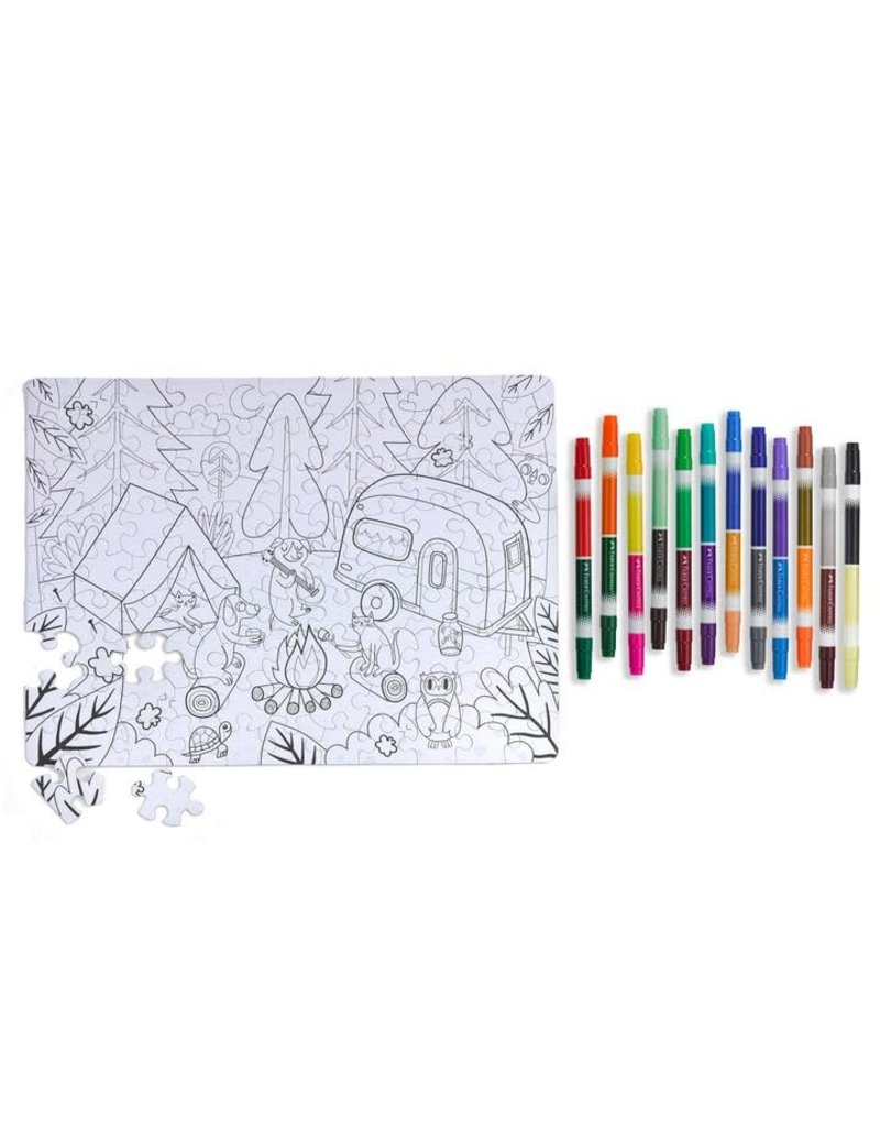 Faber-Castell Camping Color by Number Puzzle 100 pc