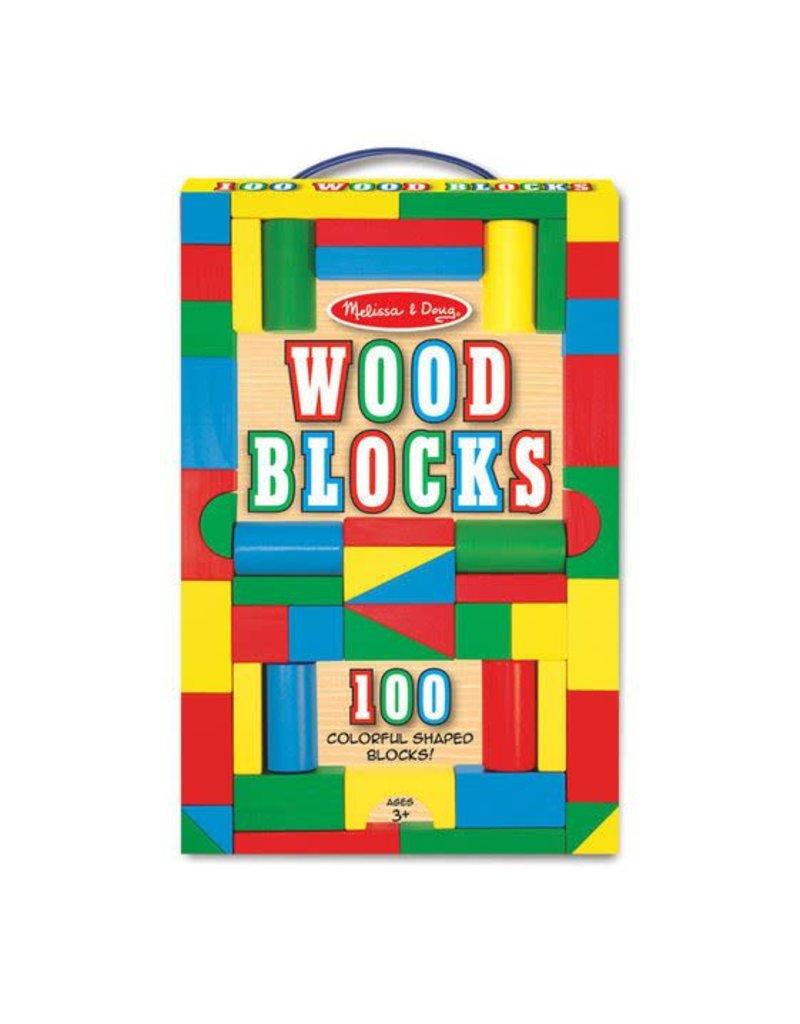 Melissa and Doug 100 pc Wood Block Set