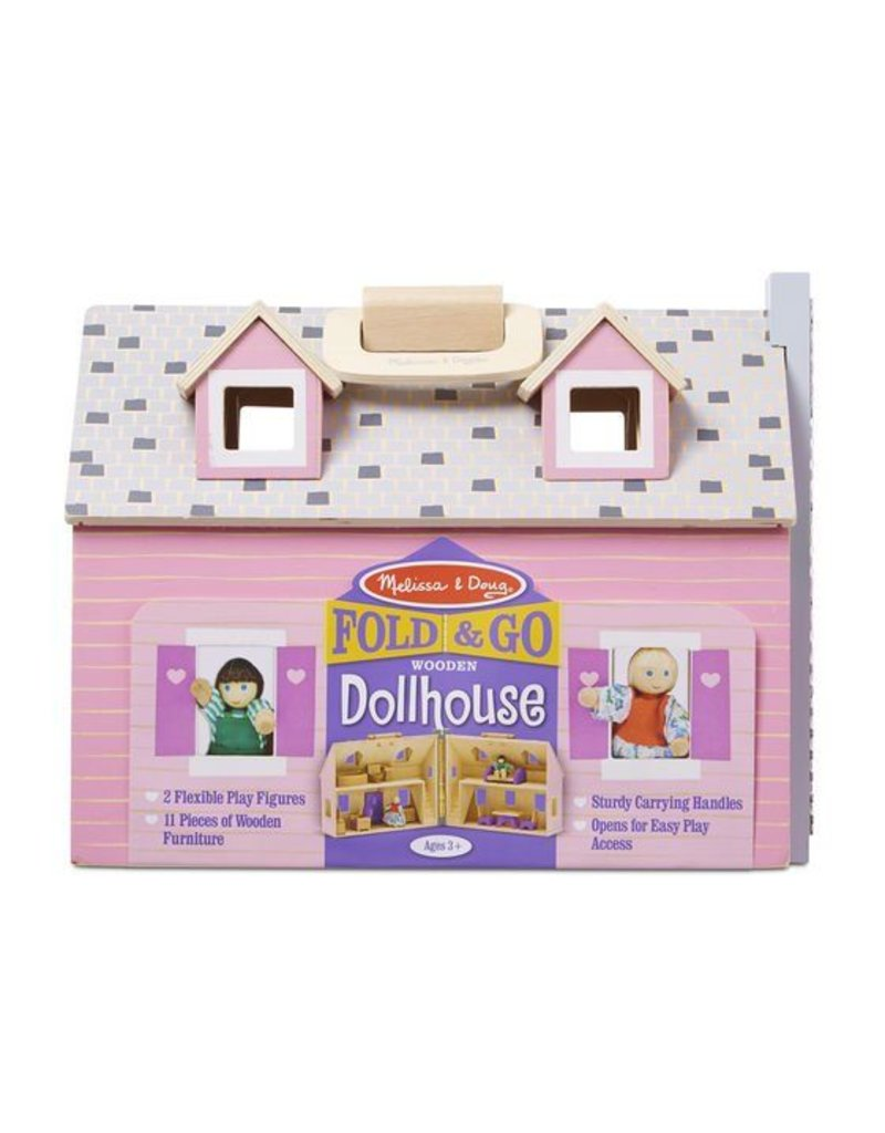 Melissa and Doug Fold & Go Mini Dollhouse