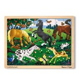 Melissa and Doug Frolicking Horses Tray Puzzle