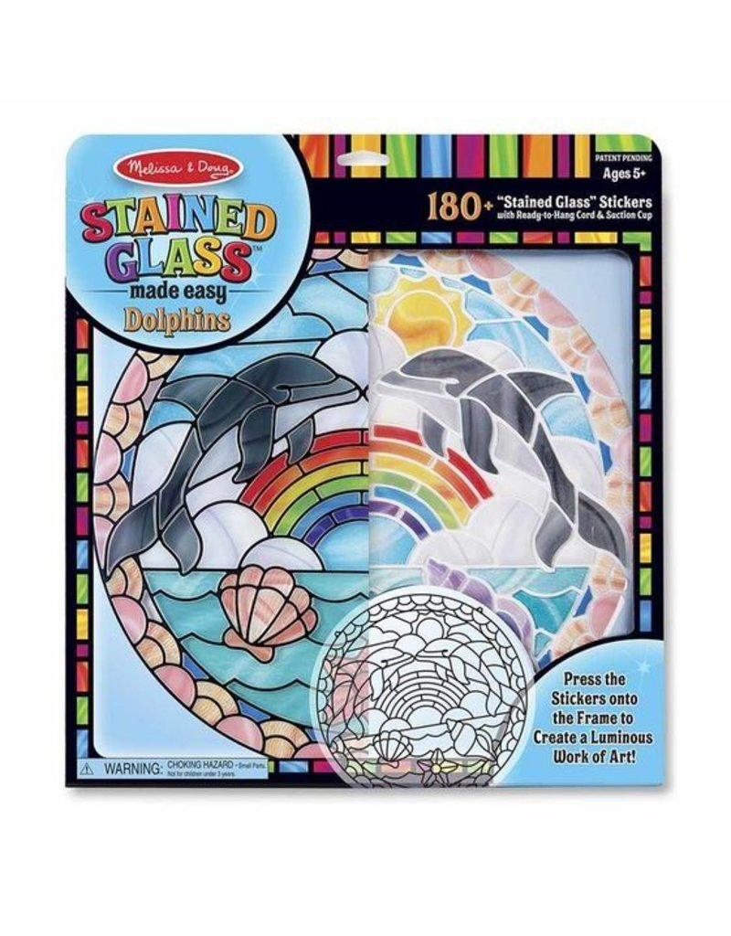 Melissa and Doug Dolphins Stained Glass