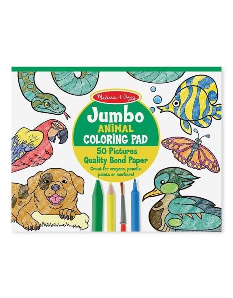 Melissa and Doug Jumbo Animal Coloring Pad