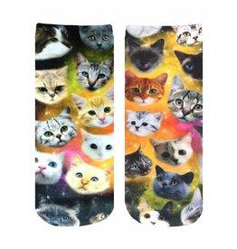 Living Royal Galaxy Kitty Ankle Socks