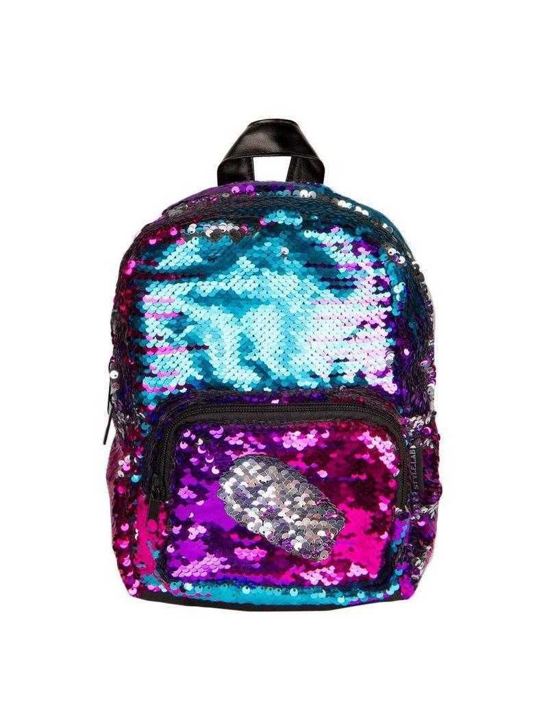 Magic Sequin Mini Backpack - Silver