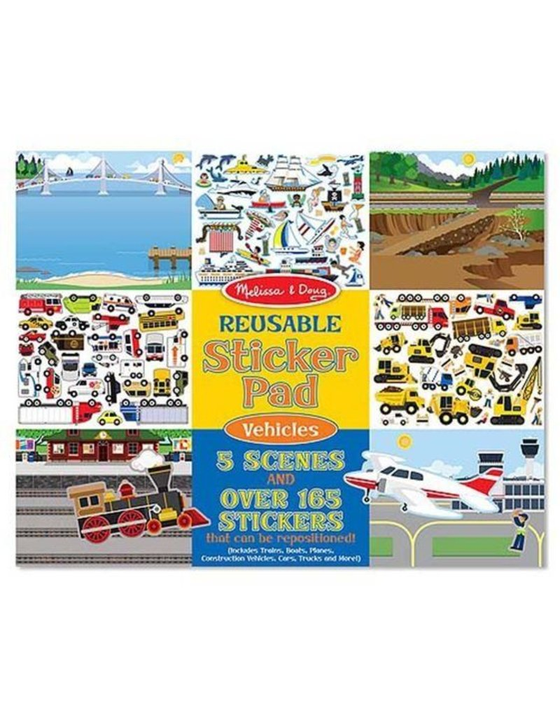 Melissa and Doug Vehicles Reusable Stickers
