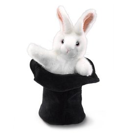 Folkmanis Rabbit in Hat Puppet- Easter