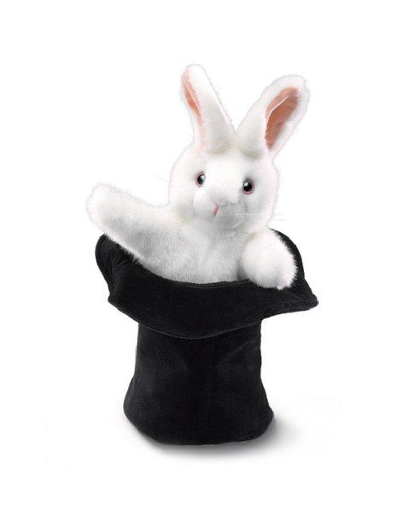 Folkmanis Rabbit in Hat Puppet