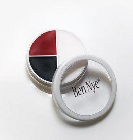 Ben Nye Small Creme circle Red, White & Black