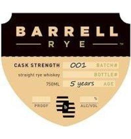 Rye Whiskey Barrell Cask Strength Rye Batch 001 750ml