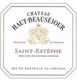 BORDEAUX-SAINT-ESTEPHE END OF BIN SALE Chateau Haut-Beausejour Saint-Estephe 2015 Bordeaux 750ml REG $39.99