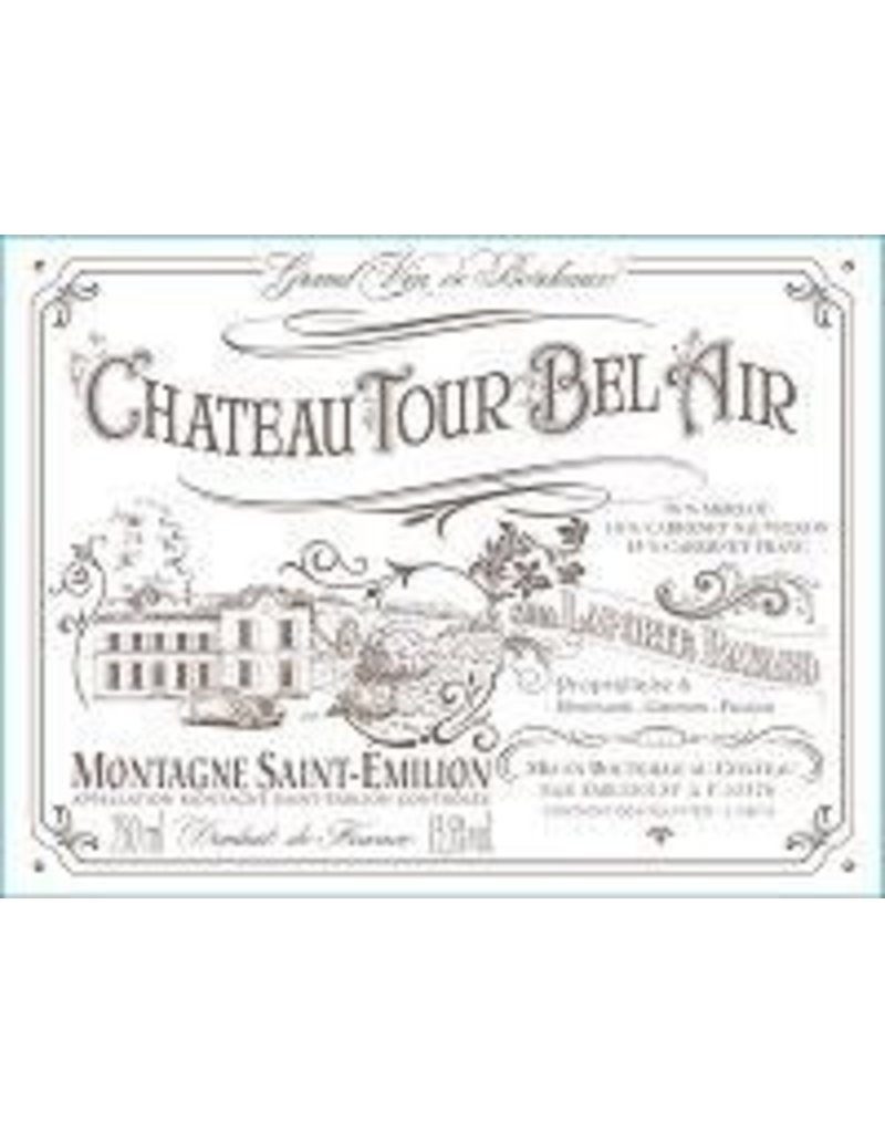 Bordeaux Red END OF BIN SALE Chateau Tour Bel Air Montagne Saint-Emillion 2015 REG $24.99