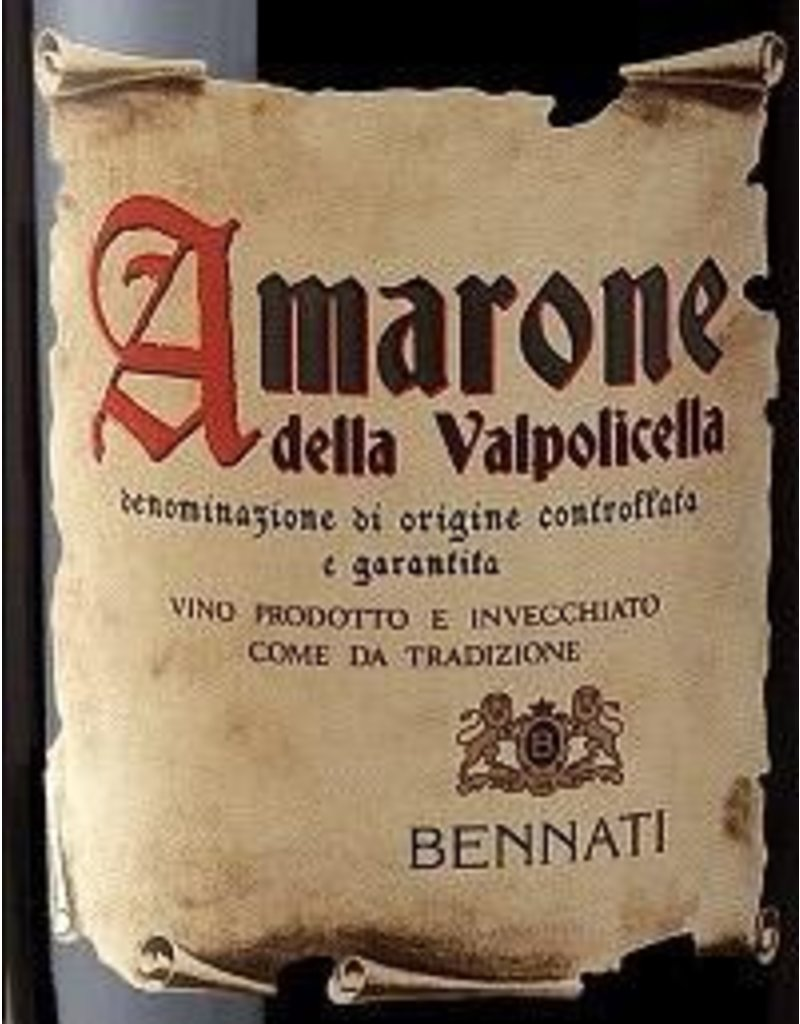 Amarone END OF BIN SALE Bennati - Amarone della Valpolicella 2015 750ml REG $49.99