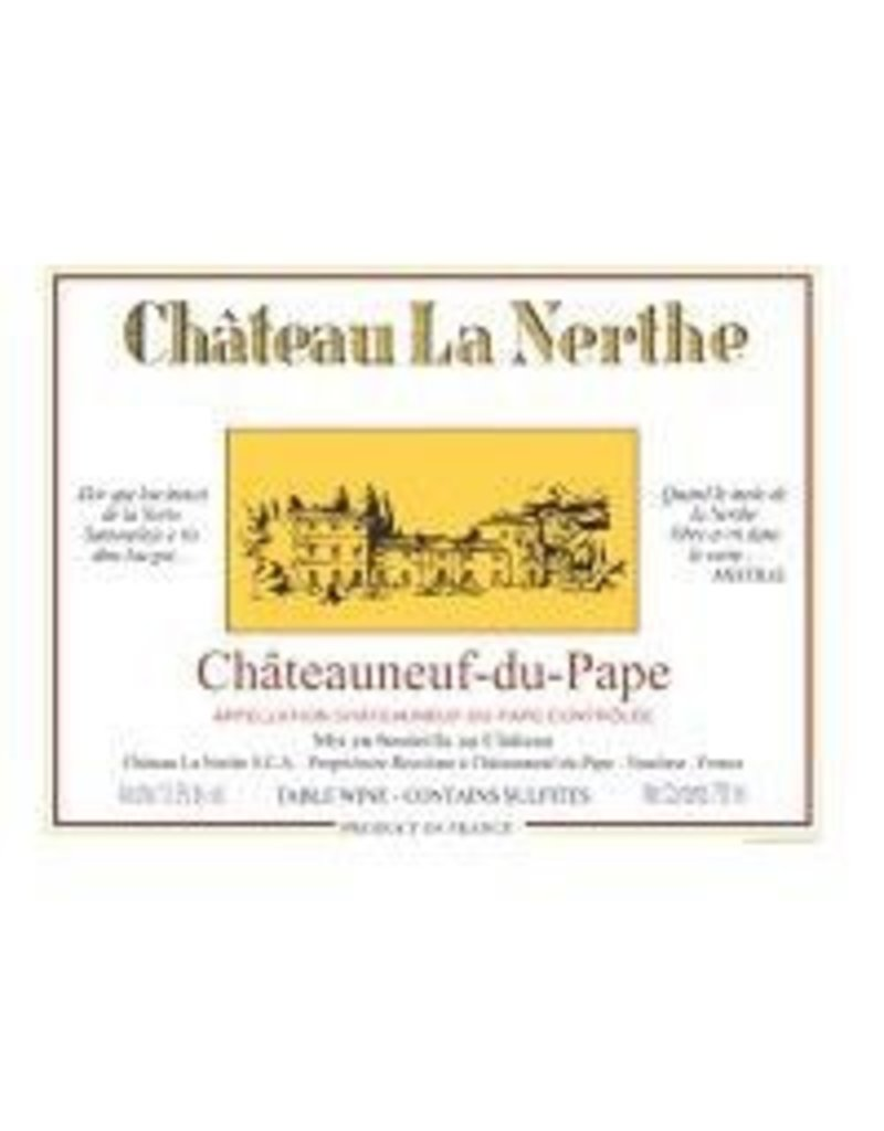 Rhone-Chateauneuf-du-Pape END OF BIN SALE Chateau La Nerthe Chateauneuf-du-Pape BLANC 2016 750ml REG $69.99