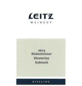 Riesling END OF BIN SALE Leitz Weingut Riudesheimer Klosterlay Kabinet Riesling 2016 750ml Germany REG $24.99