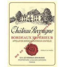 Bordeaux Red Chateau Recougne Bordeaux Superieur 2015 375ml France