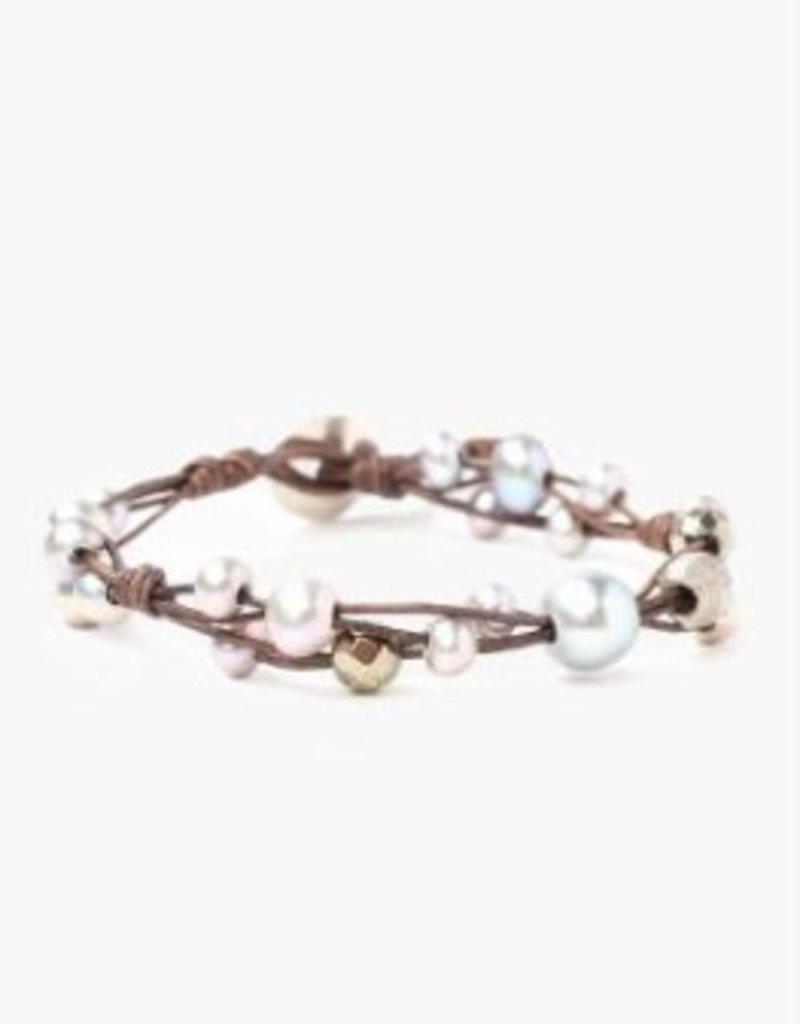 CHAN LUU Nat Grey Mix Bracelet