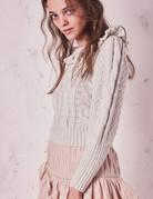 LOVESHACKFANCY Christina Sweater ~ Snow