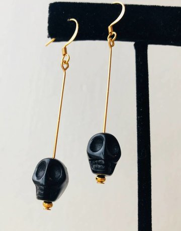 Twiga Black Skull Dangle
