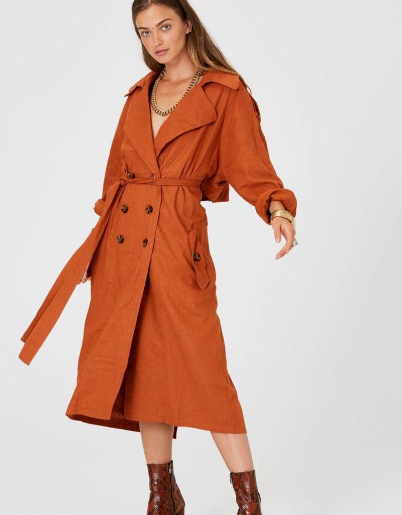 JENS PIRATE BOOTY Basic Instinct Trench Coat ~ Sunburn