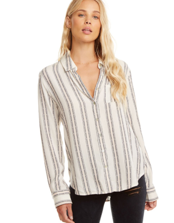 CHASER White/Pink Button Down