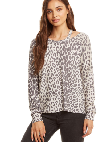 CHASER Cozy Leopard Top