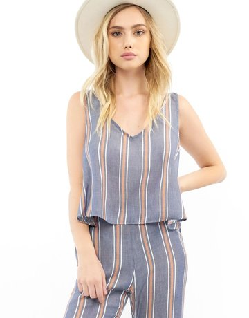 SALTWATER LUXE Terracotta Stripe Top