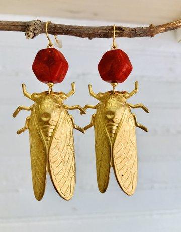 Twiga Cicada Red Coral