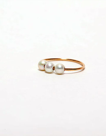 PARADIGM DESIGNS Triple Pearl Ring