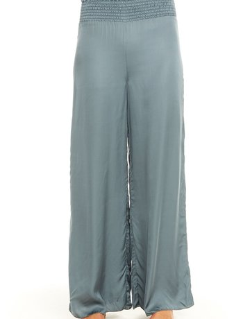 CHASER Silk Smocked Pant