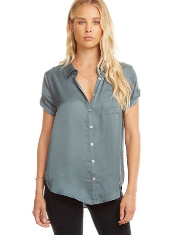 CHASER Silk Button Down