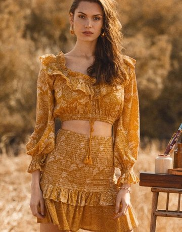 SPELL & THE GYPSY Lioness Peasant Blouse ~ Carmel