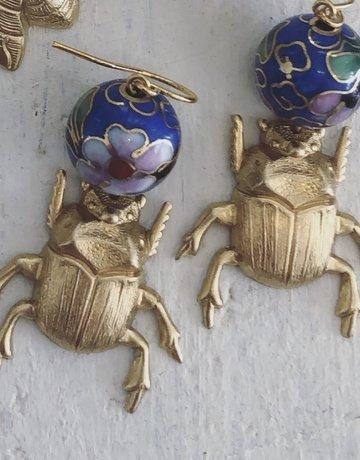 Twiga Scarab Beetle Vintage Flora