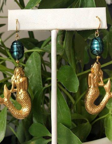 Twiga Mermaid Dangle ~ Teal Pearl