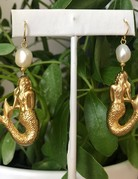Twiga Mermaid Dangle ~ White  Pearl