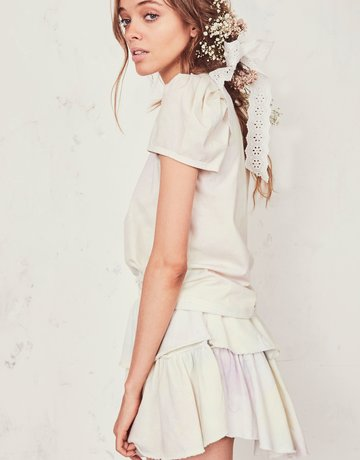 LOVESHACKFANCY Ruffle Mini Skirt ~ TieDye