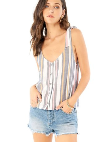 SALTWATER LUXE Button Front Tank W/ties