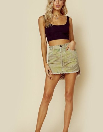 ONE TEASPOON Camo Vangaurd Mini Skirt