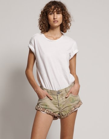 ONE TEASPOON Safari Camo Bandits Demin Short