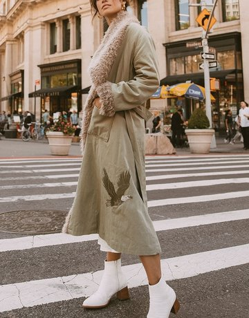 SPELL & THE GYPSY Eagleback Overcoat ~ Khaki