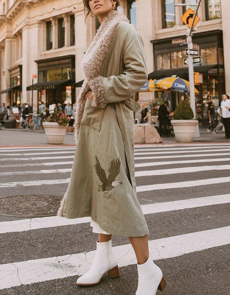 SPELL & THE GYPSY Eagleback Overcoat ~ Khaki