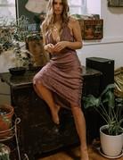 SPELL & THE GYPSY Rosalie Jacquard Slip ~ Mauve