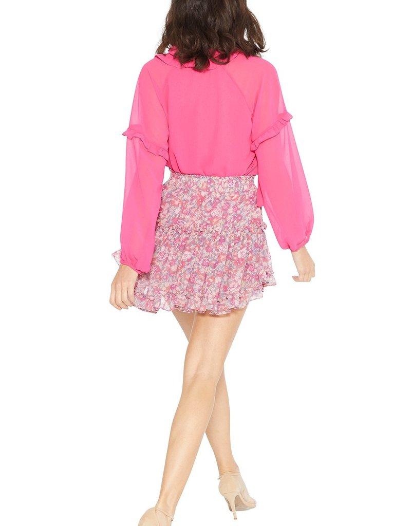 MISA Willa Skirt Pink Floral