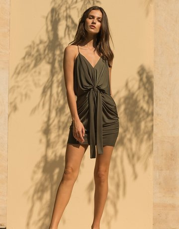 MISA Domino MiniDress Olive