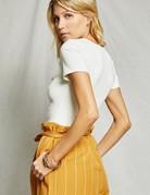 SAGE THE LABEL Sienna Bodysuit White