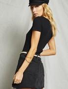 SAGE THE LABEL Marta Black Mini Skirt